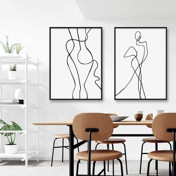 Abstract Figure Canvas