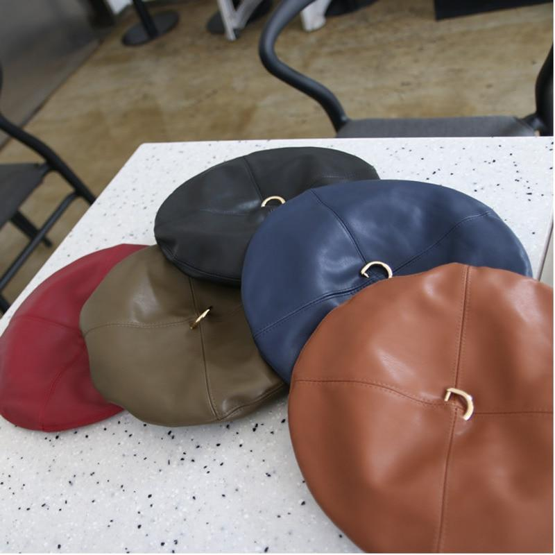 Leather Ring Beret