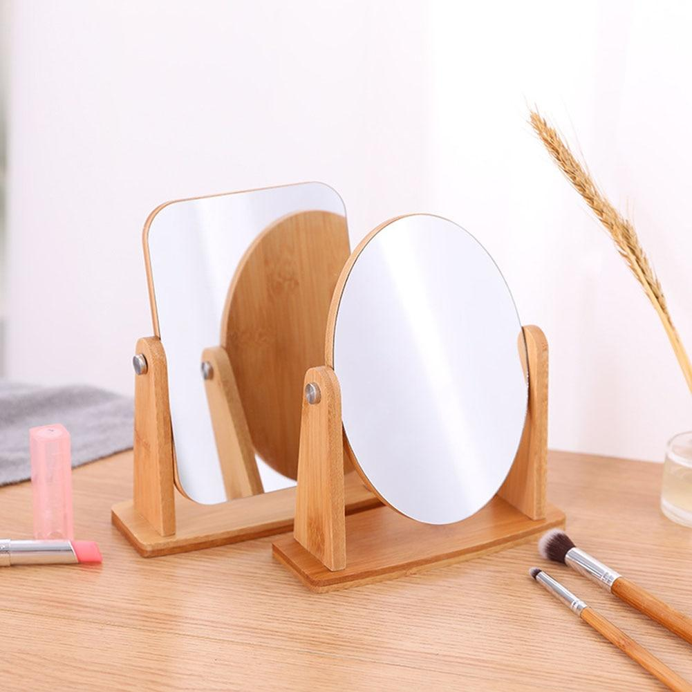 Wood Table Mirror