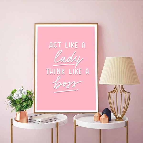 Lady Boss Canvas Art