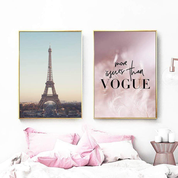 Paris Pink Canvas