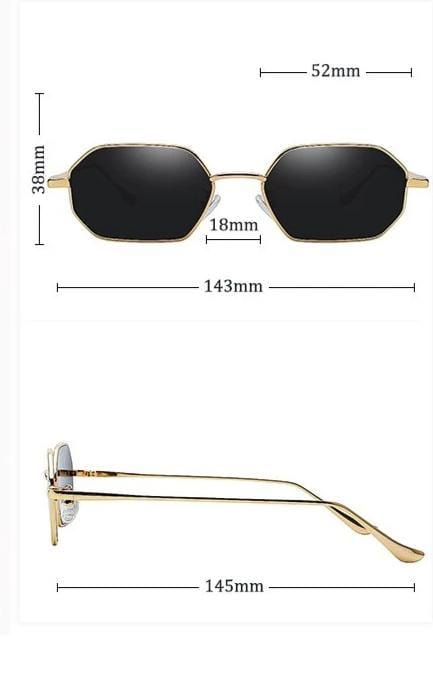 Hexagon Frame Sunglasses