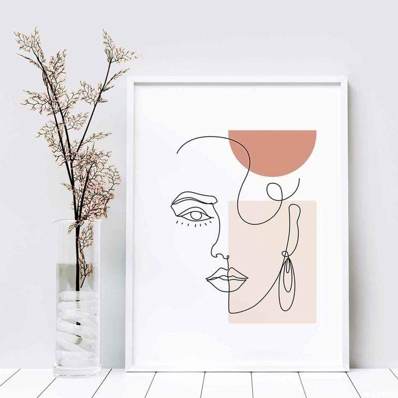 Abstract Visage Canvas