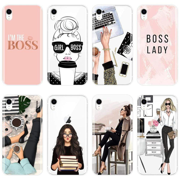 Girl Boss Transparent iPhone Case