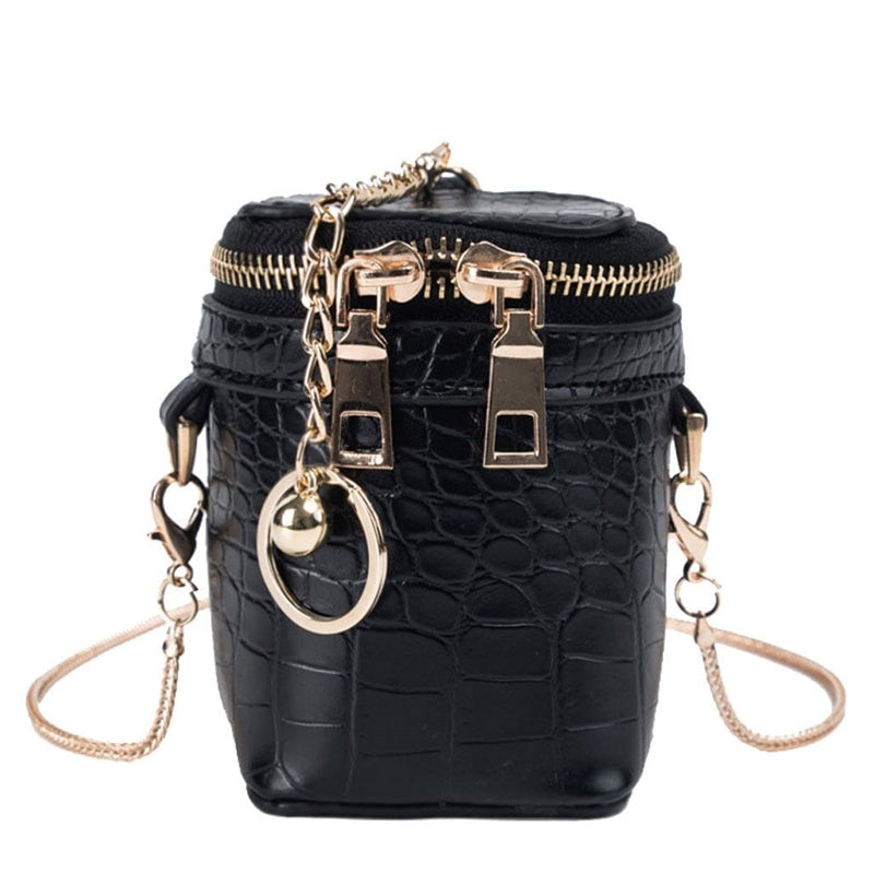 Leather Bucket Chain Bag