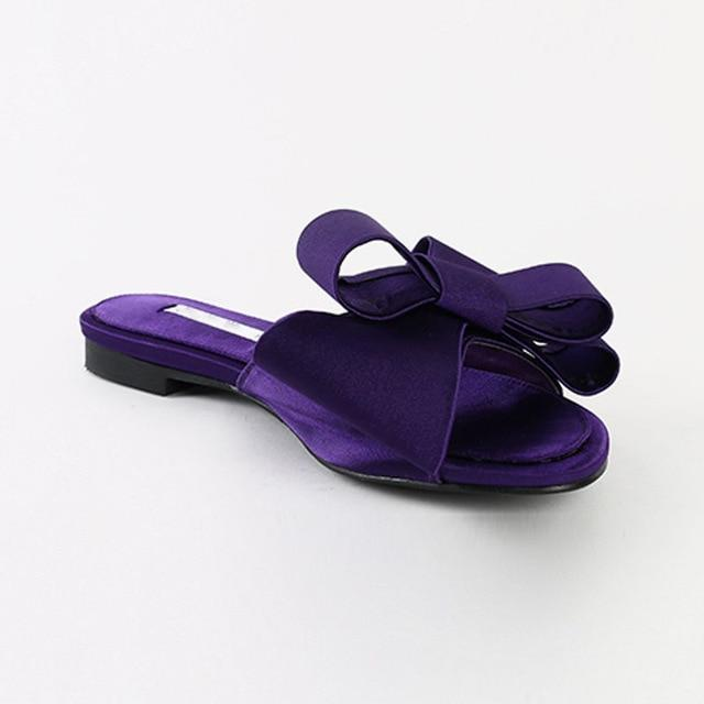 Satin Open Toe Bow Sandals