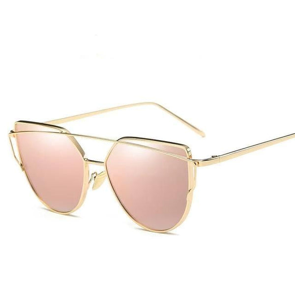 Vintage Cat Eye Mirror Sunglasses