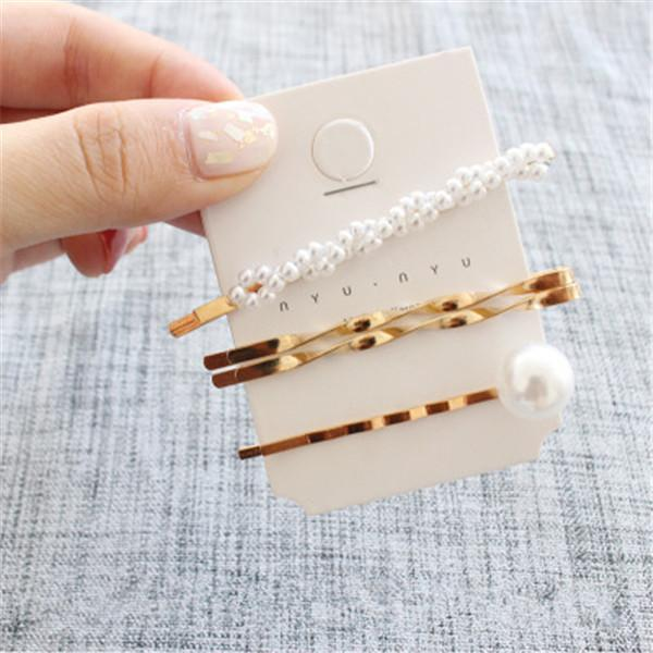 Minimalist Gold and Pearl Hairpins