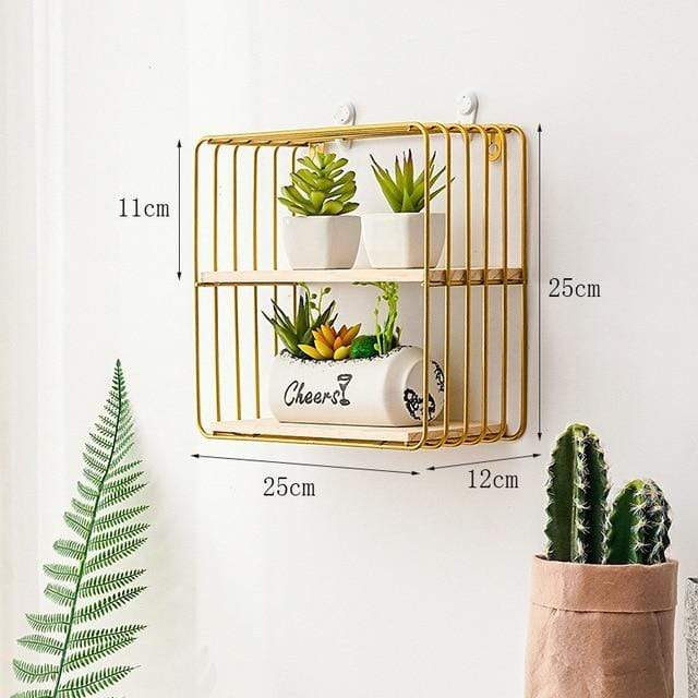 Golden Floating Shelf