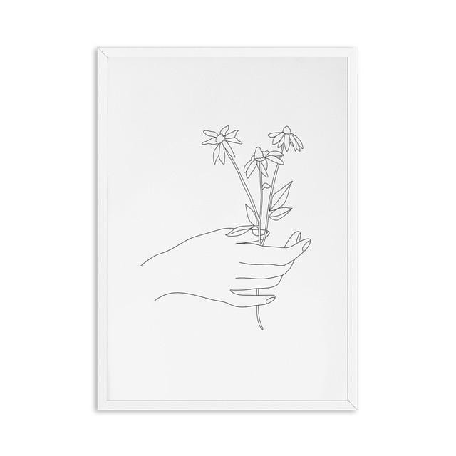 Abstract Botanical Canvas
