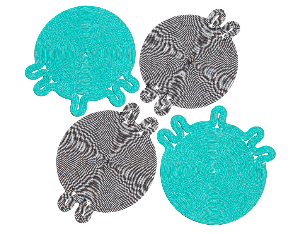 Amoeba Placemat Set - Iceberg (Set of 4)