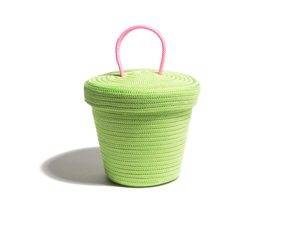 Small Loopy Lid Basket - Green