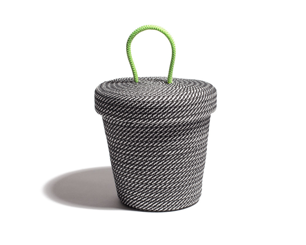 Small Loopy Lid Basket - Stripe