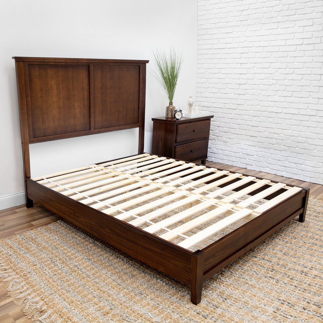 Autumn Oak Platform Bed