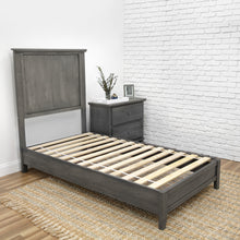 Load image into Gallery viewer, Slate Grey Platform Bed