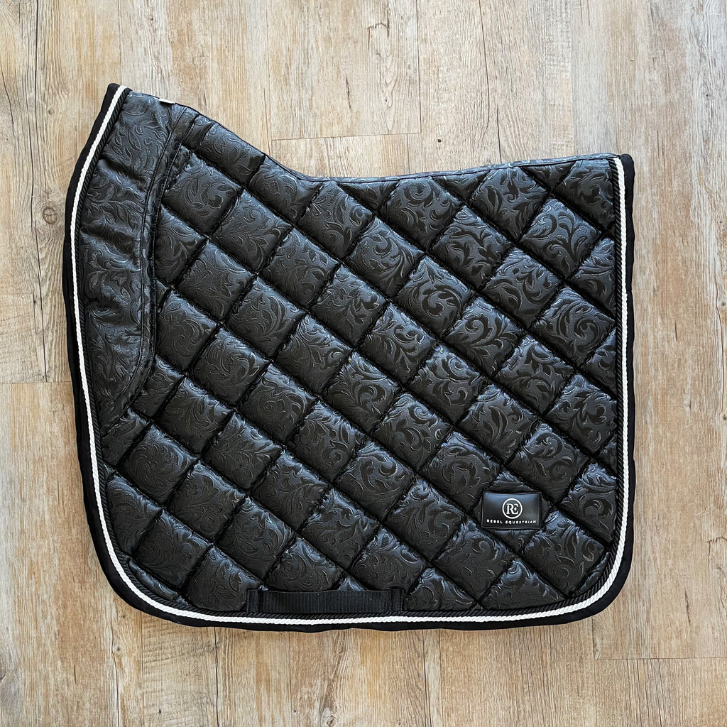 Raven Damask Dressage Pad