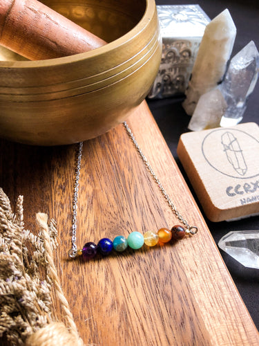 Chakra Alignment Bar Necklace