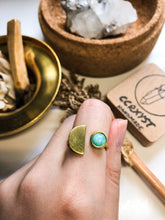 Load image into Gallery viewer, D'Moon Amazonite Brass Ring