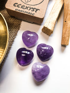 Amethyst Miniature Heart