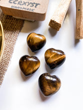 Load image into Gallery viewer, Tiger Eye Miniature Heart