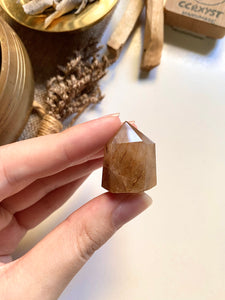 Golden Rutilated Quartz Tower