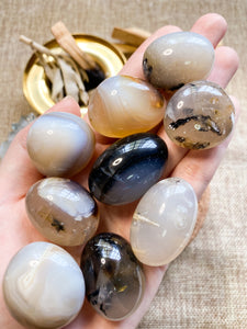 Grey Agate Tumbled