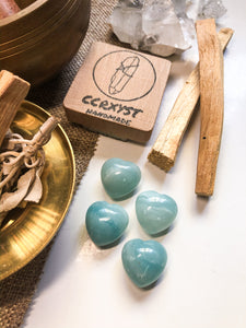 Amazonite Miniature Heart