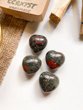 Load image into Gallery viewer, Bloodstone Miniature Heart