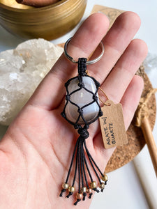 Agate with Quartz Macrame