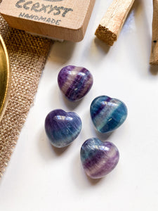 Rainbow Fluorite Miniature Heart