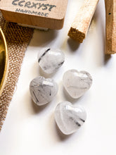 Load image into Gallery viewer, Tourmalinated Quartz Miniature Heart