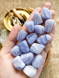 Blue Lace Agate Tumbled
