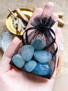Aquamarine Tumbled Set