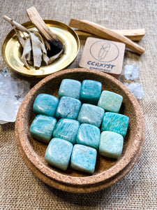 Amazonite Tumbled (Cubes)