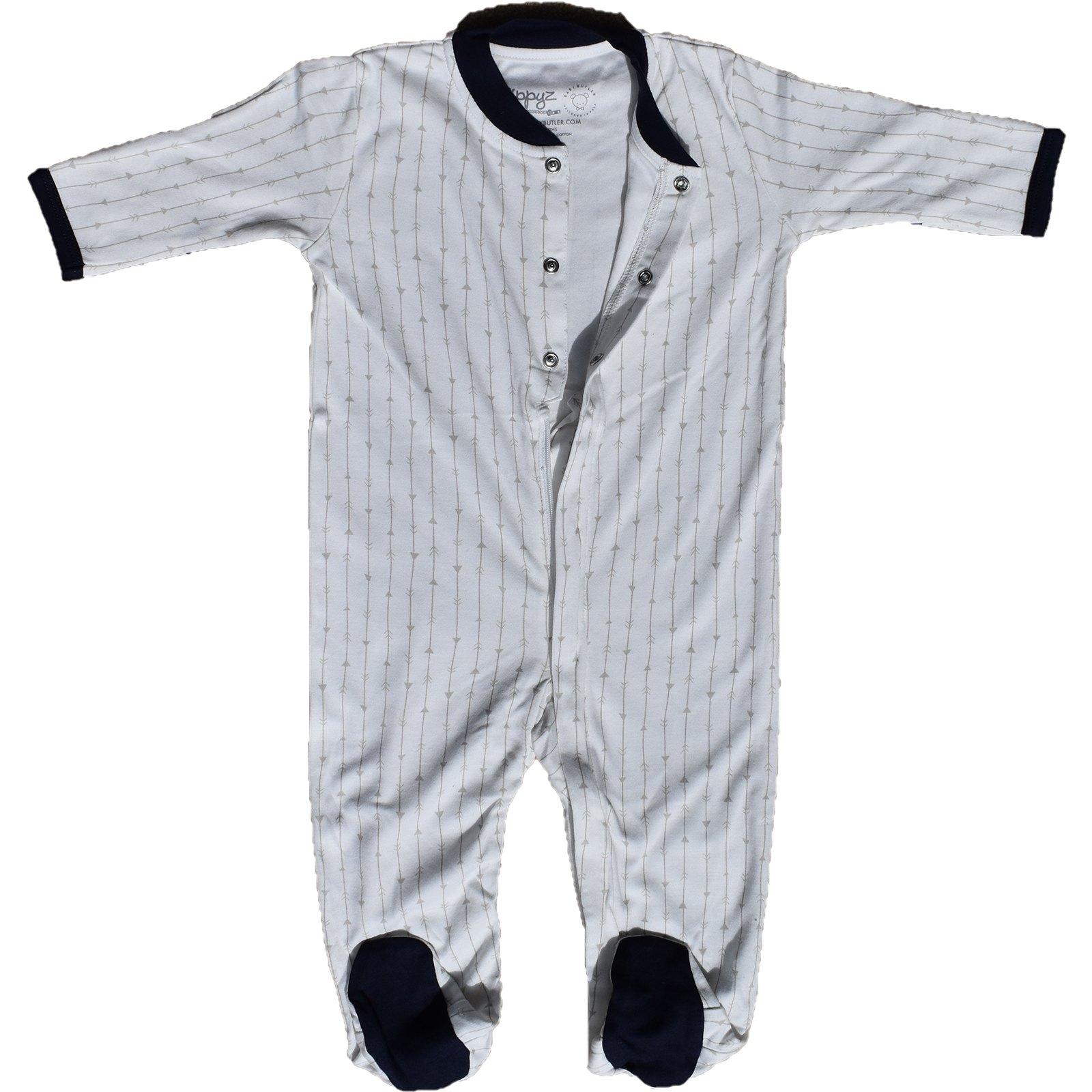 Zippyz Pajamas - Grey Arrows