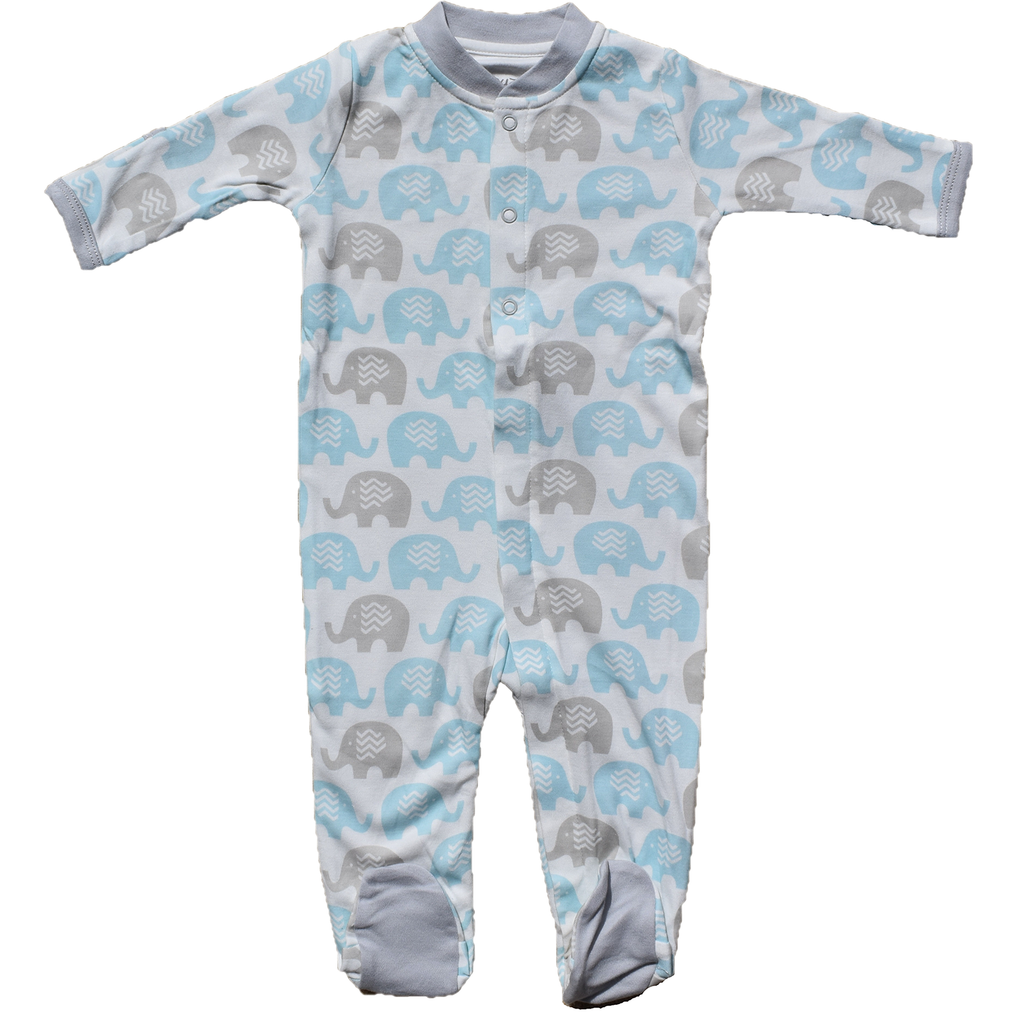 Zippyz Pajamas - Teal Elephant