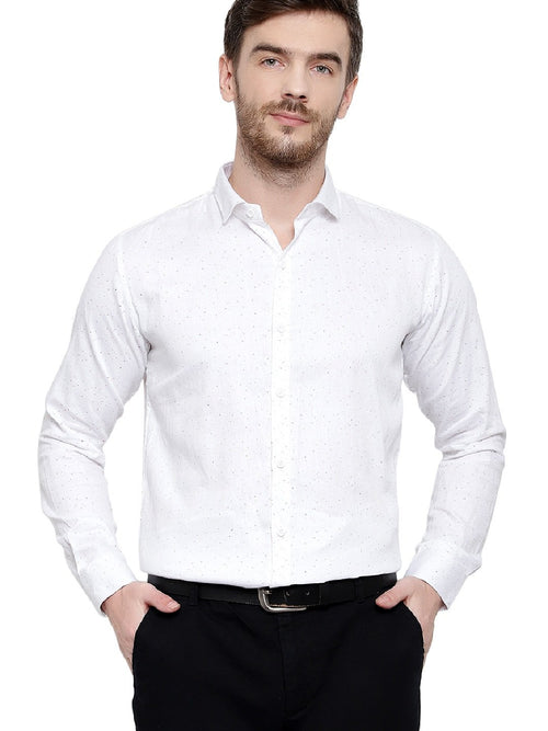 White Dotted Shirt for Mens Code-1052