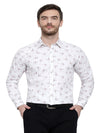 Men's Premium Cotton White Printed Shirt Code-1081