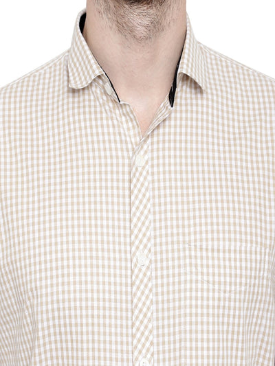 Small Check Shirt For Mens Code-1075