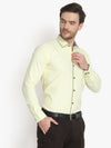 Mens Formal Light Yellow Cotton Shirt Code-1095