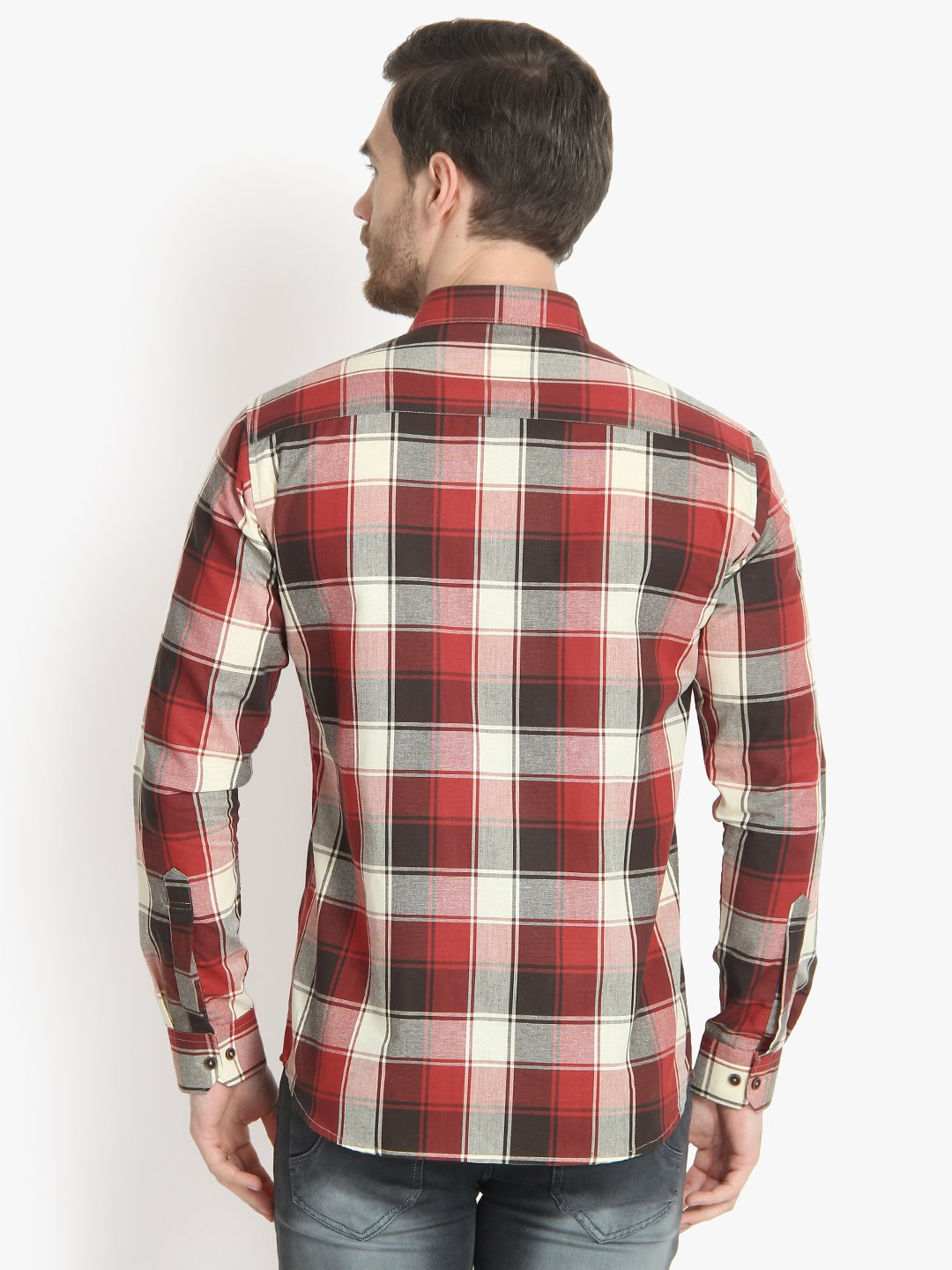 Men's Casual Check Cotton Shirt Code-1026