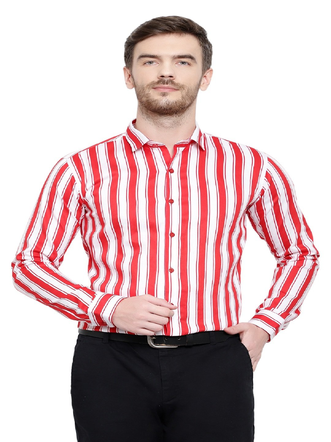 Red & White Lining Shirts Code-1068