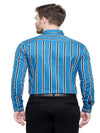 Men's Blue Formal Stripe Cotton Shirt Code-1061