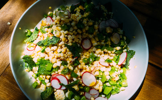 Summer Corn Salad with CBD Olive Oil