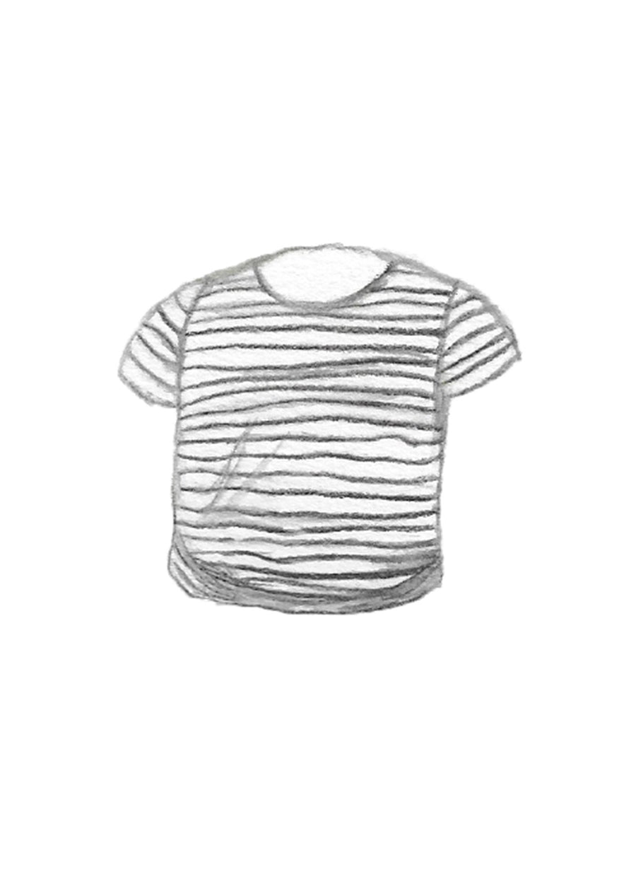The Striped Crew Tee