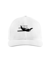 Crew single engine low wing black art on light cap