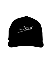 Crew  twin engine low wing jet white art on dark cap