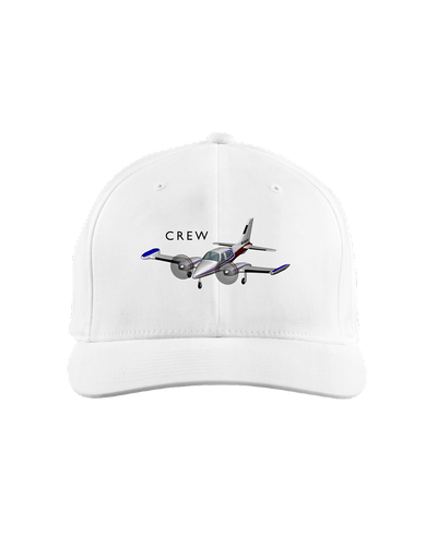 Crew twin engine low wing black art on light cap 1