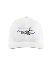 Pilot in Command twin engine  black art on light cap 1