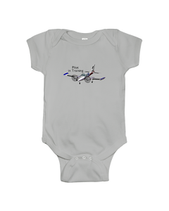 Pilot in Training Twin black logo  Youth and Toddler